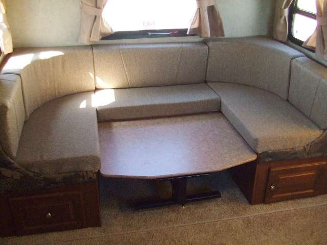 large king size u shaped dinette in this roo 23ss travel