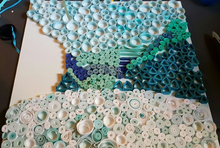 Quilling-Lake Louise. Ran out of paper for the last part