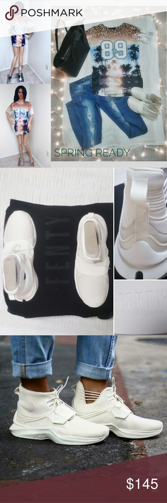 PUMA FENTY TRAINER WHITE HI WOMEN'S SNEAKERS 🌻AUTHENTIC / BRAND NEW 🌻ORIGINAL BOX & FENTY BAG 🌻NEVER WORN / CLEAN 🌻PLEASE KNOW YOUR SIZE 🚫 🌻SIZE 8 ( CAN FIT SIZE 7.5 FOR SPACE) 🌻OFFERS ACCEPTED   🌻WHISPER WHITE ( OFF WHITE) 🌻Rihanna's FENTY BRAND 🌻UNIQUE & FASHION FOWARD LOOK 🌻NOT TOO SMALL / NOT TOO LARGE 🌻NOT TOO NARROW / NOT TOO WIDE 🌻WELL BUILT SNEAKER Puma Shoes Sneakers