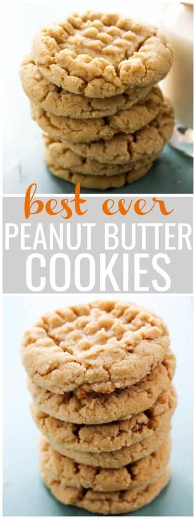 Best ever soft peanut butter cookies – #butter #Co…
