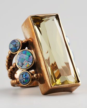 Stephen Dweck Multi-Stone Rectangle Ring - Bergdorf Goodman