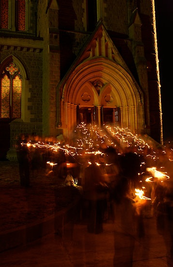 Blessing of the fire - Sacred Heart Cathedral