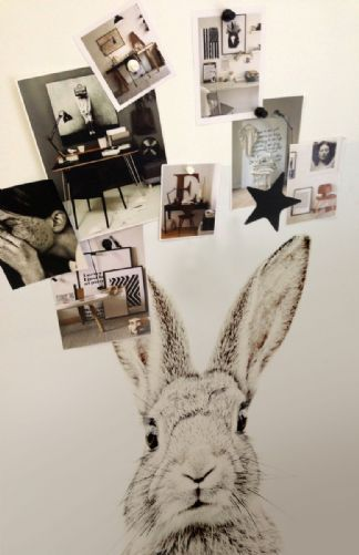 Magnet-Friendly Wallpaper - Rabbit - 2 Sizes - 5 magnets included