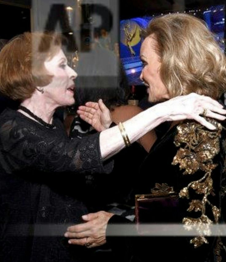 Jessica Lange and Carol Burnett at the Emmys Governors Ball.