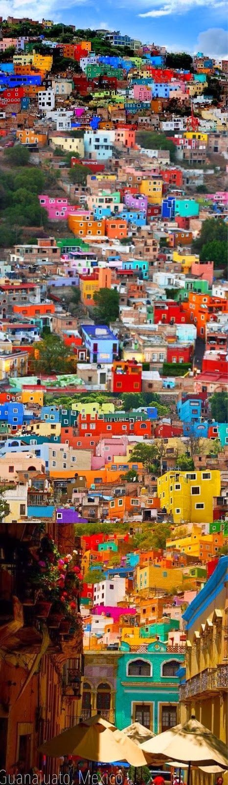Guanajuato, Mexico This would be fun to paint.