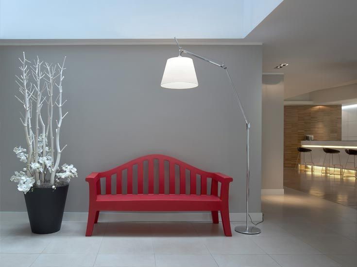 Artemide Tolomeo Mega floor is all what you need to enrich a space in which you have not thought of anything.