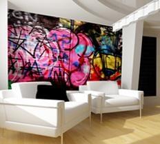 Be brave! Graffiti wallpaper