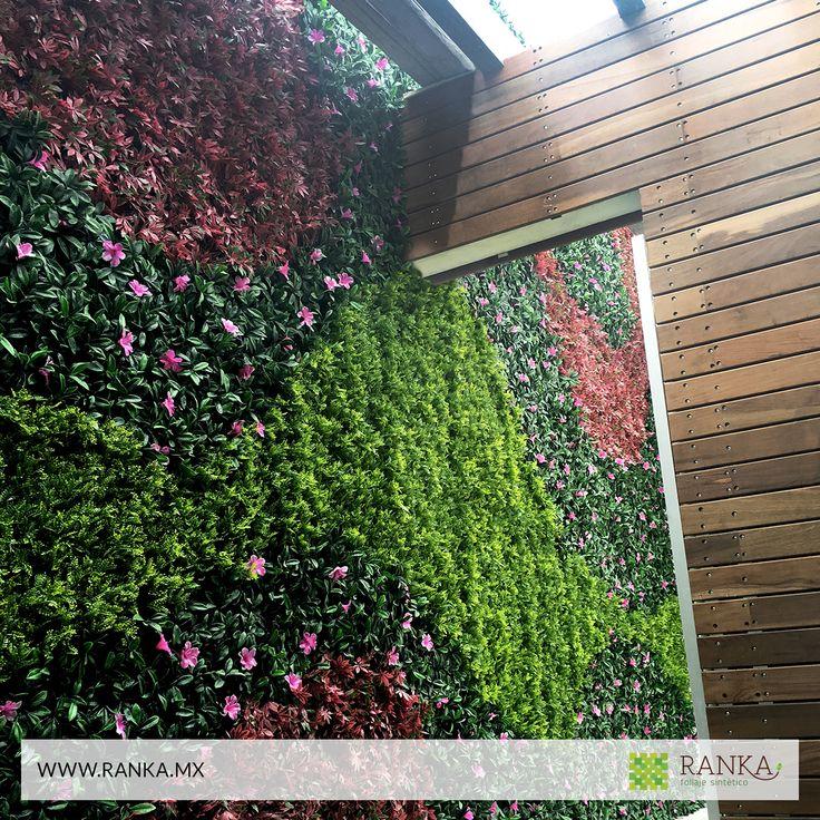 15 mejores im genes de jardines verticales artificiales en for Plantas decorativas artificiales df
