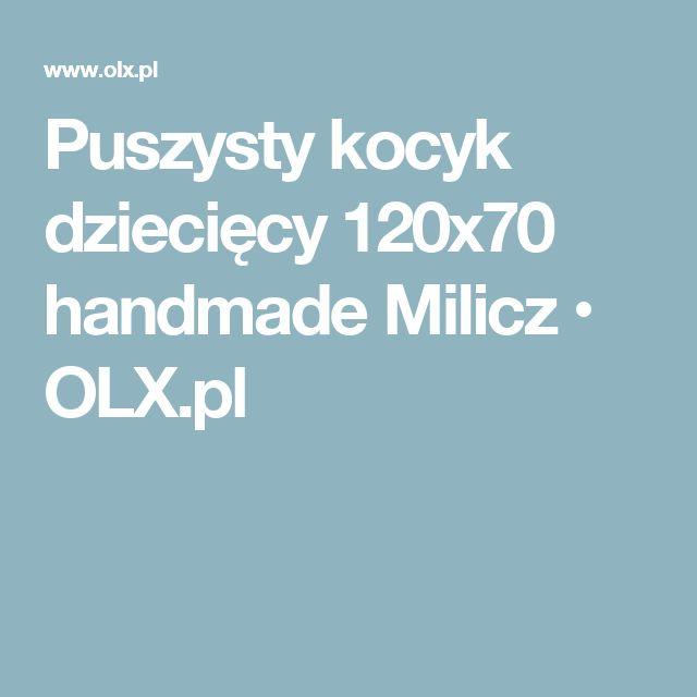 Puszysty kocyk dziecięcy 120x70 handmade Milicz • OLX.pl