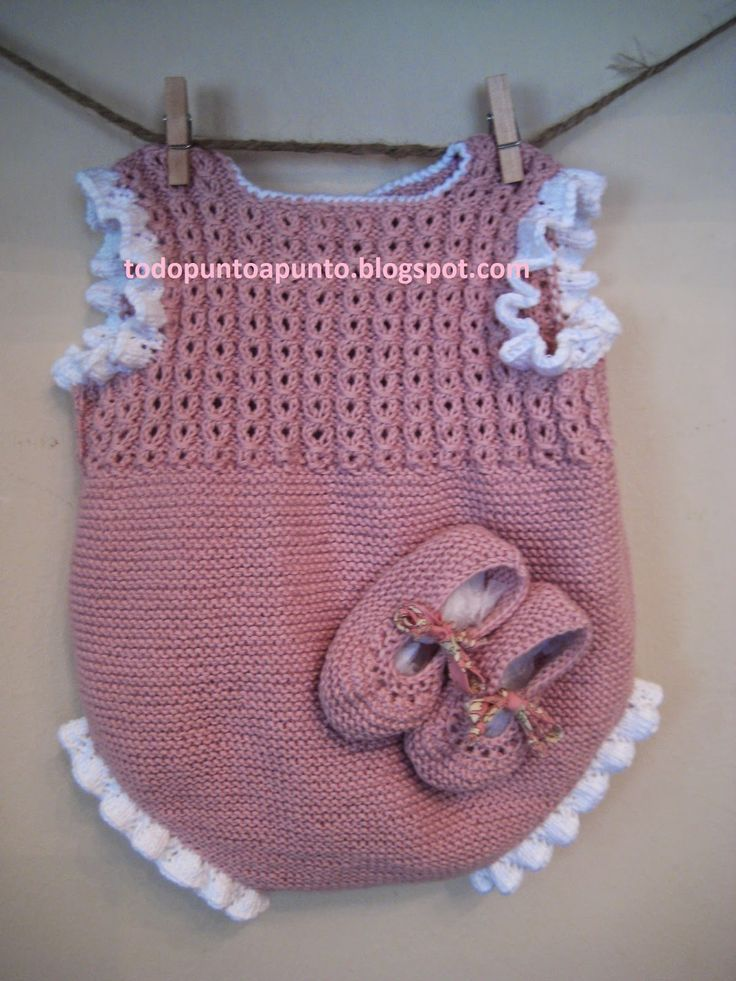 Ranita rosa con volantito en blanco  ...