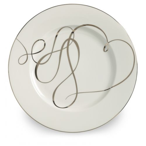 Mikasa Love Story - White and Platinum - Fine China Charger Plate
