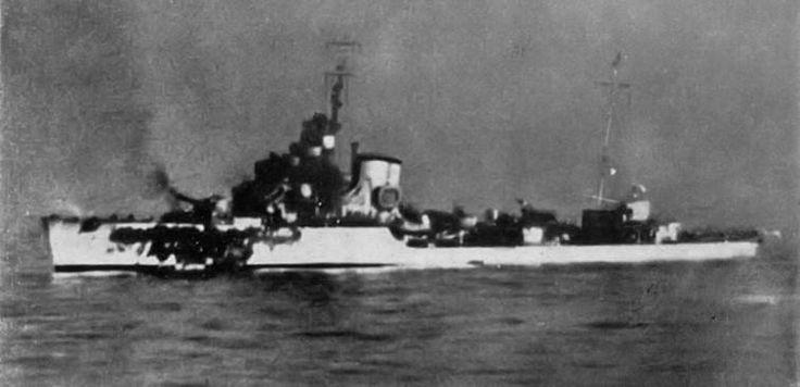 destroyer artigliere soldati class sunk by hms york ajax cape passero carlo margottini captain
