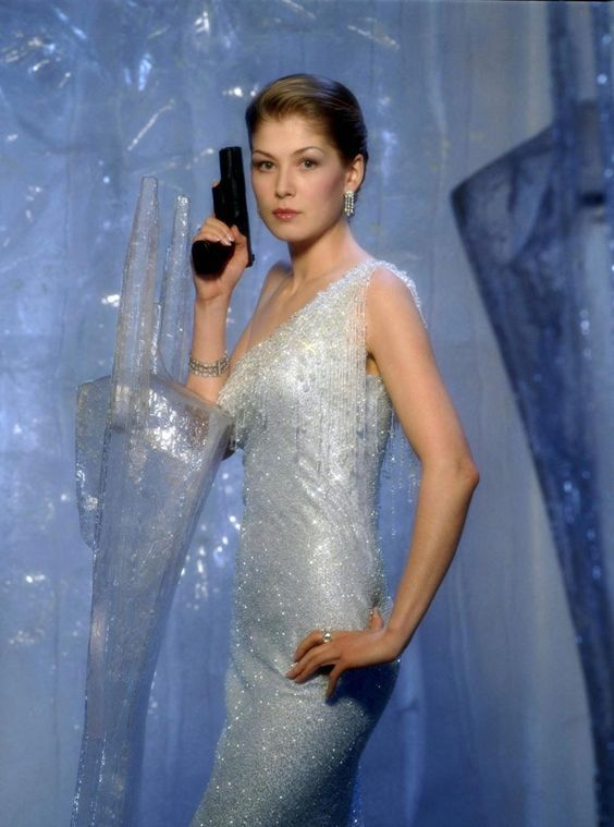 DIE ANOTHER DAY -  Bond Babe. Rosamund Pike as Miranda Frost undercover MI6 double agent.