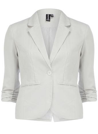 Silver 3/4 sleeve jacket