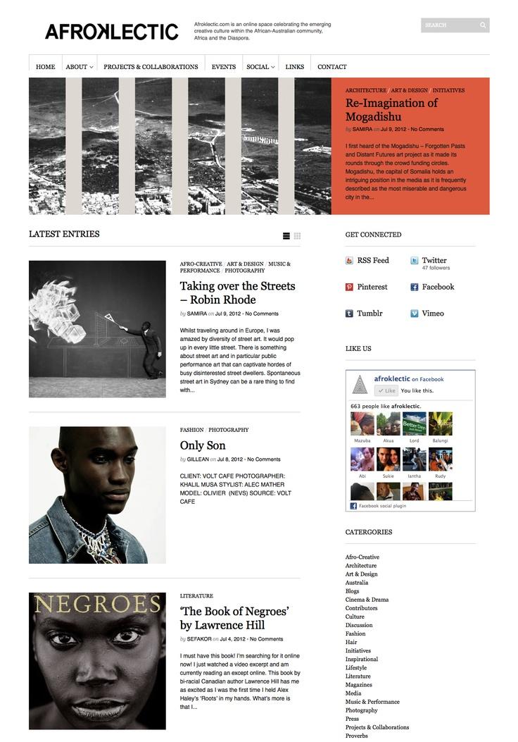 June 2012: Look of AFROKLECTIC.COM