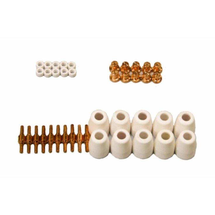 Plasma Cutter Nozzles, Electrodes, Cups and Rings Set (40-Piece) for Lotos NON-Pilot Arc LT3500, LT5000D and CT520D