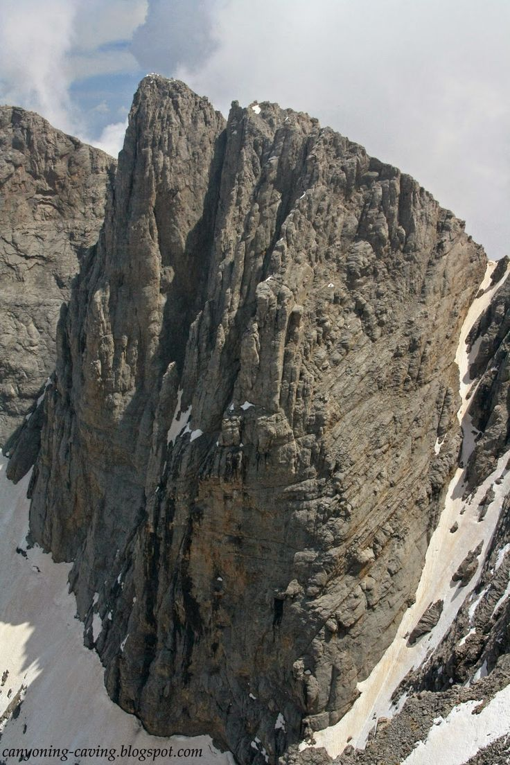 Mutikas peak, the highest place at Greece, mt Olympus, Greece