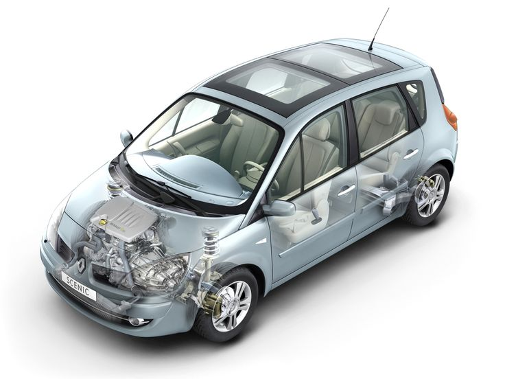 2006-2009 Renault Scenic - Illustration unattributed