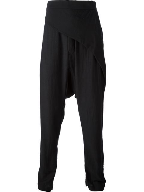 Shop Rick Owens drop crotch trousers in Autograph from the world's best independent boutiques at farfetch.com. Over 1000 designers from 60 boutiques in one website.