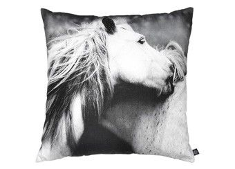 "fancy ""playing horses"" cushion, 60x60 cm by nord 