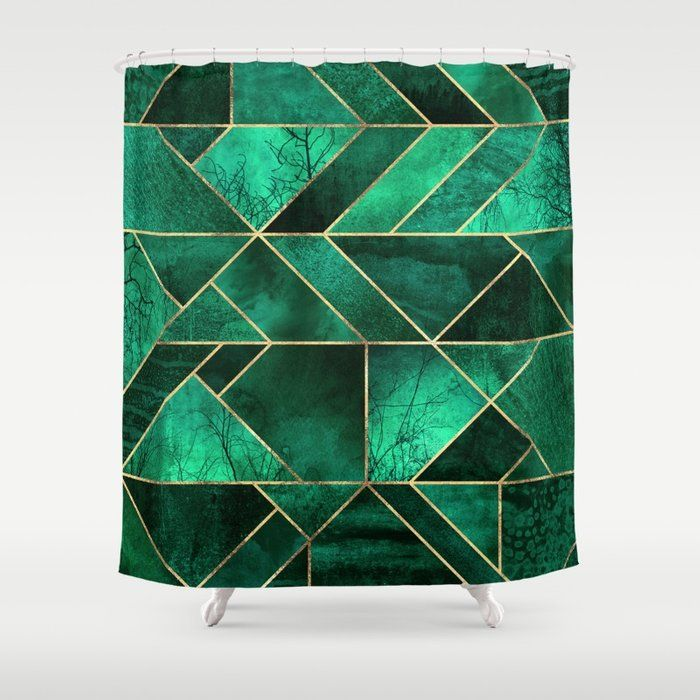 Emerald Green Bathroom Green Shower Curtains Green Bathroom Gold Shower Curtain
