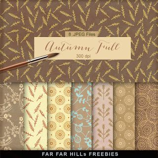 New Freebies Kit of Paper - Autumn Full                                                                                                                                                                                 More