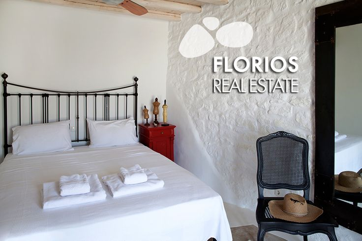 The bedrooms are all spacious with en-suite bathrooms, while the guest room by the pool preserves independence and privacy. FL1021 Villa for Sale on Mykonos island, Greece. http://www.florios.gr/en/mykonos-property/18.html