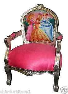 childrens character novelty disney furniture silver u0026 pink wooden carved chair