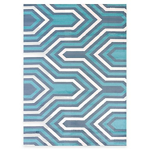 United Weavers Modern Texture Cupola 5-Foot 3-Inch x 7-Foot 2-Inch Area Rug in Blue