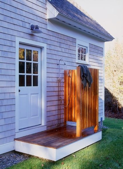 Simple outdoor shower -- can be installed simply for less than $1000