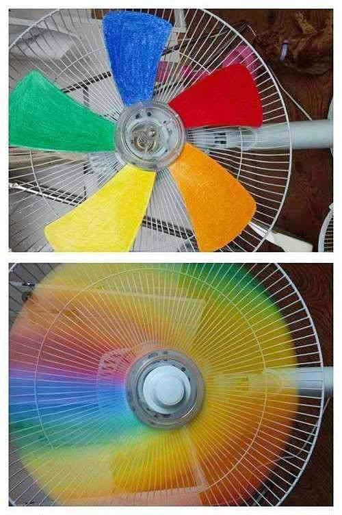 How To Paint Fan Blades To Get Colorful Rainbow Effects Step By Step DIYu2026 Amazing Ideas