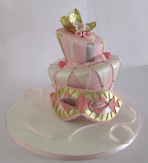 Masquerade Birthday Cake Designs