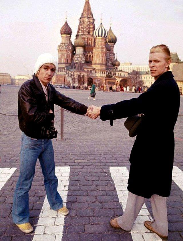 Игги Поп и Дэвид Боуи в Москве, 1976 год, фото: The Rolling Stone / Getty Images