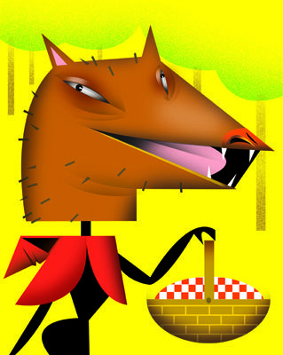 Little Red Wolf. Illustration by Amy Ning, represented by Liz Sanders Agency. lizsanders.com