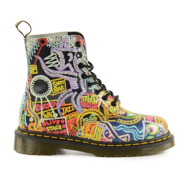 Colorful Printed Dr. Martens boots -  Dr. Martens laarzen met kleurenprint