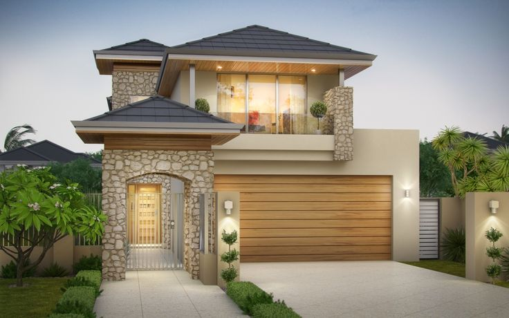 Lathlain 2 storey narrow design with limestone feature 2 storey narrow lot homes