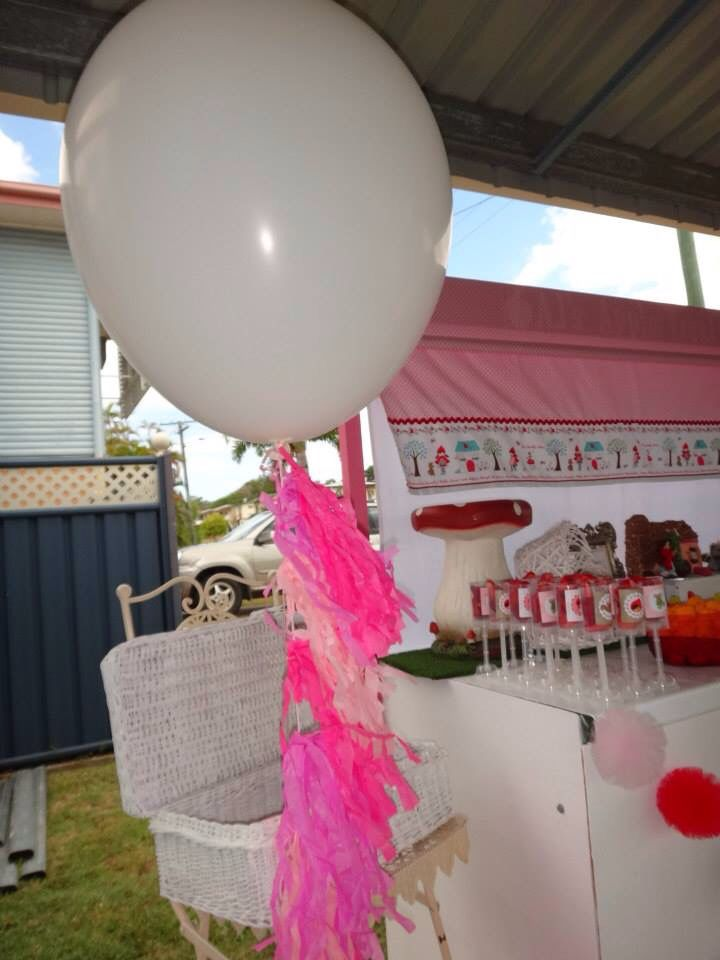 Oversized balloon - red riding hood birthday
