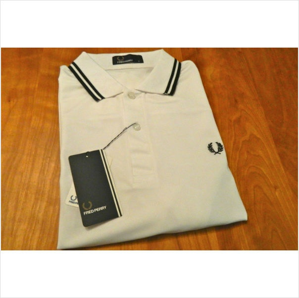 New Men's Original M1200 Fred Perry White Polo Shirt