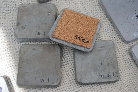 Concrete coasters atl series by mdcinteriors on etsy 20 for How to make concrete coasters
