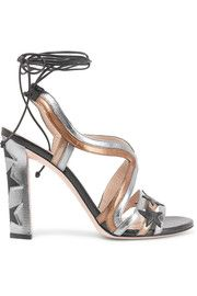 PAULA CADEMARTORI Lotus metallic cutout lizard-effect leather sandals    THE BEST! #EXCLUSIVE SHOES Absolutely Adore IT! Anyone Love it as much as I do? #SUMMER  #VACATION #COLORFUL #DELUX