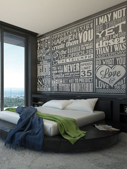 Chalk Quotes Wall Mural by Brewster at Gilt