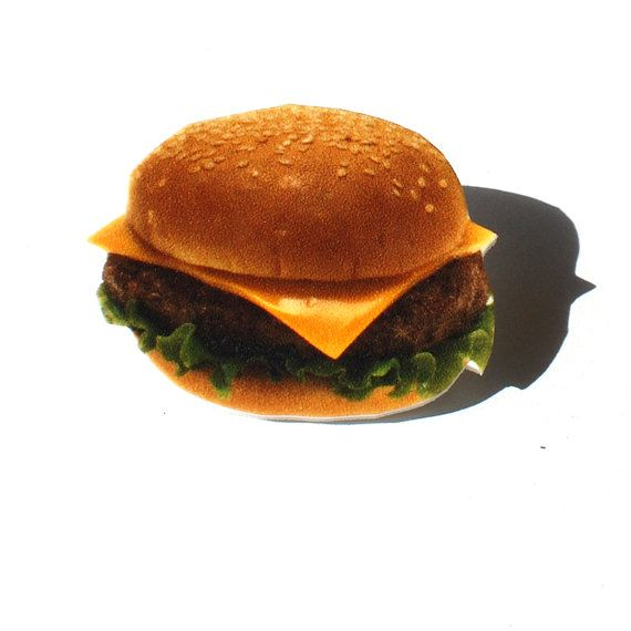 Cheeseburger Pin by SpaceGrunge on Etsy, $7.00
