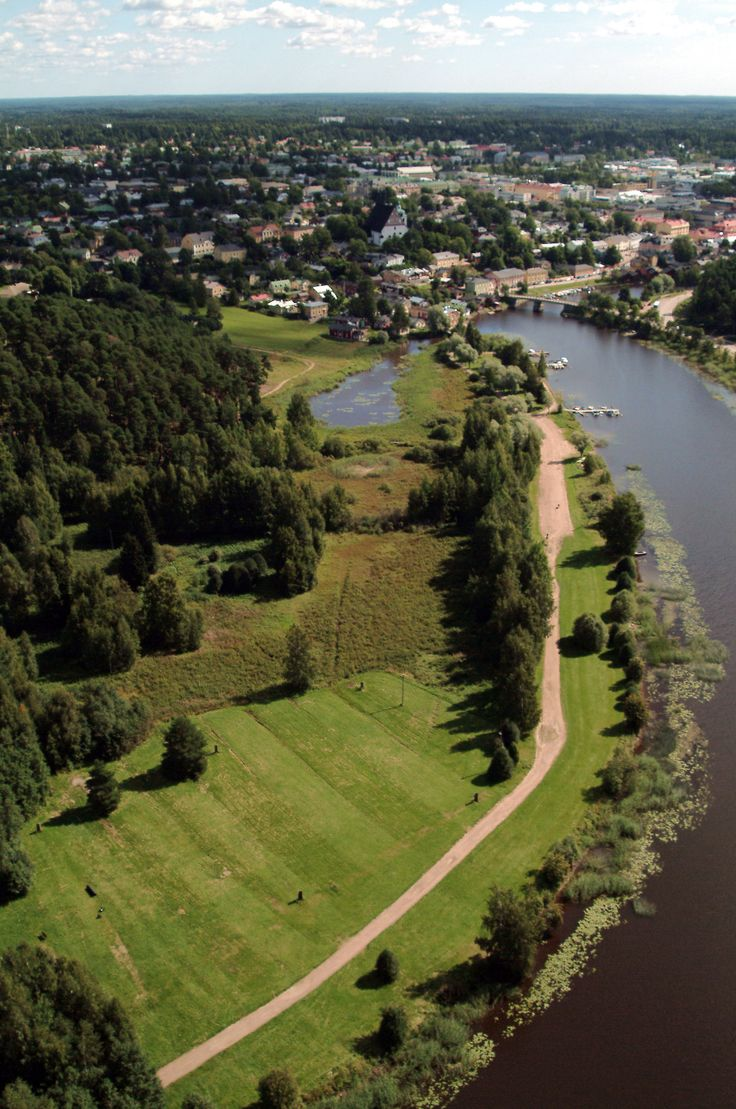 Aerial view of Porvoo river  www.visitporvoo.fi