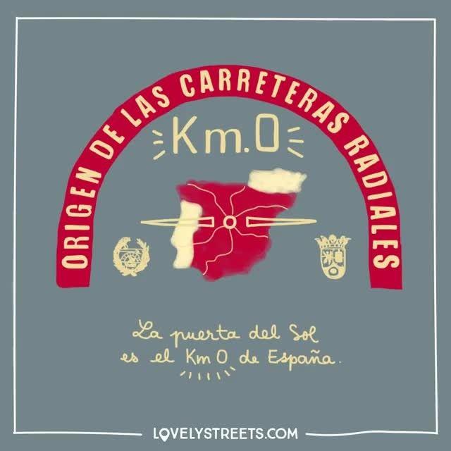 Si aún no te has hecho la mítica foto en el km 0, es hora de planear un viaje a Madrid. #lovelystreets #facts #spain #km0