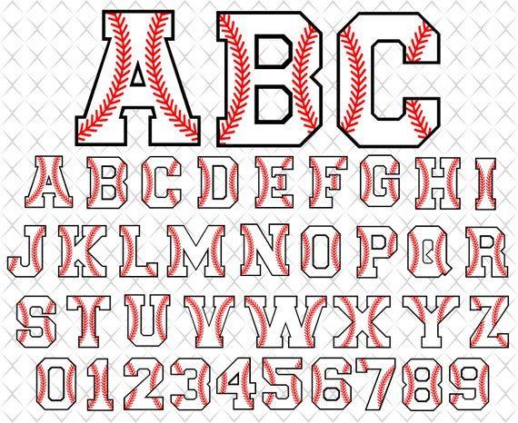 Download Baseball font svg Baseball alphabet with stitches Baseball ...