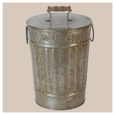 poubelle retro deco zinc wc salle de bain antic line. Black Bedroom Furniture Sets. Home Design Ideas