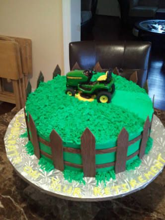 lawn mower cake - Google Search