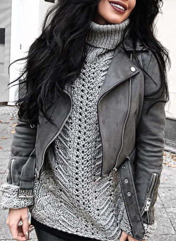 Best 25  Grey leather jacket ideas on Pinterest | Tops for jeans ...