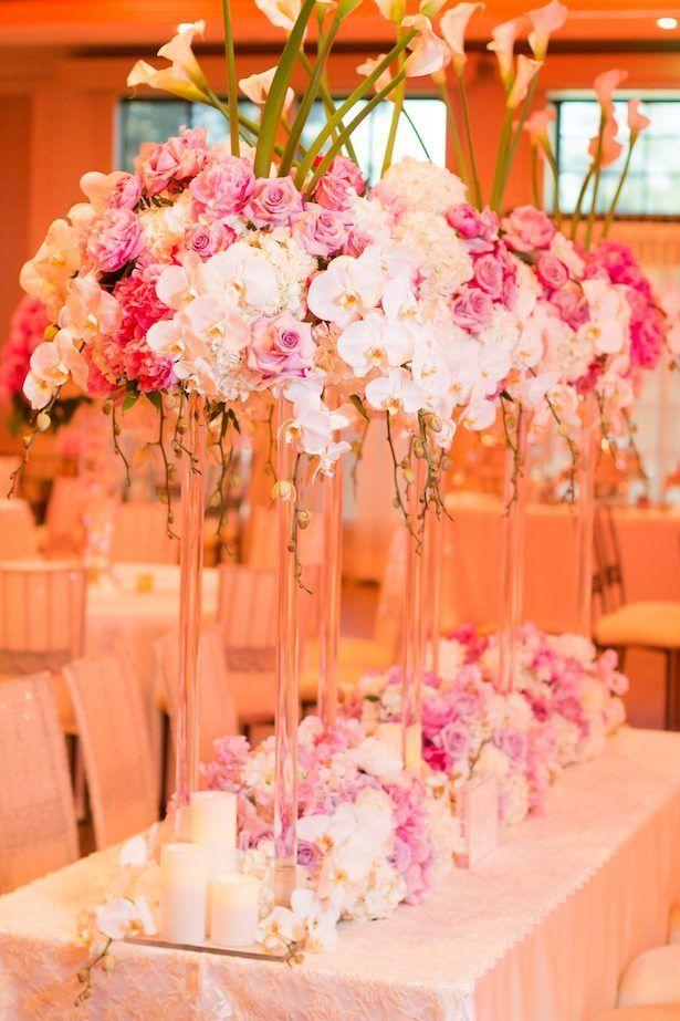 Tall wedding centerpiece - Ace Cuervo Photography