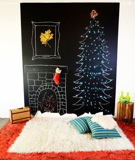 Chalkboard | If your space is too small for a Douglas Fir, or you just want to try something out-of-the-ordinary this year, give one of these clever DIY ideas a go.